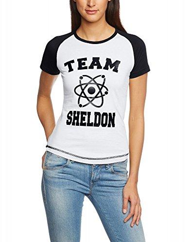 Coole-Fun-T-Shirts T-Shirt Team Sheldon Base Big Bang Theory, grau, S, 10800_Grau_BASEGIRLY_GR.S