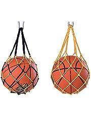 Jixista Ball Net Bag Carry Net Bag Nylon Mesh Ball Net Volleybal Basketbal Voetbal Carry Net Bag 2 stks Opslag Sport Carrier Houder voor Basketbal Volleybal Voetbal Pocket Outdoor