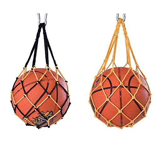 Jixista Ballnetz Nylon Net Tasche Volleyball Basketball Fußball Robustem Netzstoff Sports Ball Tasche Speicher Net Tasche Ball Carry Mesh für Single Ball 2pcs Net Bag Single Ball Carrier