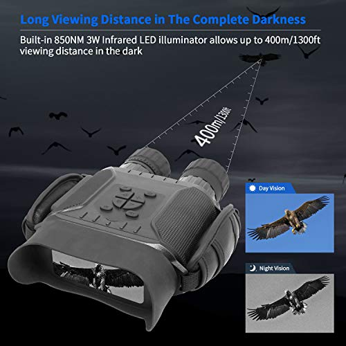 """Bestguarder NV-900 4.5X40mm Digital Night Vision Binocular with Time Lapse Function Takes HD Image & 720p Video with 4"""" LCD Widescreen from 400m/1300ft in The Dark W/ 32G Memory Card"""