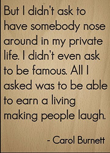 Norma Lily aber ich Didn 't Ask jemanden zu Haben, Nase. inspirierenden Zitat Zeichen, Laser Gedruckt auf Holzschild–Größe: 25,4x 45,7cm.