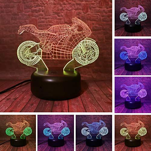 Mixed Double Motorrad IR Dimmen Gradient Man Spielzeug 3D LED Nachtlicht USB Tischlampe Kinder Geburtstagsgeschenk Bedside Home Decoration