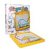 Playmags Magna Dots - Tablero Magnético Grande de 12.5 Pulgadas para Niños, Tablero Magnético con Bolígrafo Magnético - Doodle Magna Doodle con Imanes Seguros para Niños - Juguete de Viaje para Niños