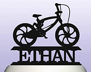 Personalised Acrylic BMX Bike Birthday Keepsake Cake Topper Decoration