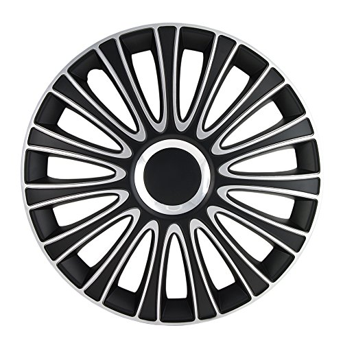Alpena 58287 Le Mans Black-Silver Wheel Cover Kit - 17-Inches - Pack of 4