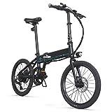 Autoshoppingcenter Bicicleta Eléctrica Plegable Ciclomotor 20 Pulgadas 250W 30km/h Bicicleta de Ciudad/Montaña Marco de Aluminio Bateria de Litio 36 V 10,4Ah Display LED 3 Modos [EU Stock]
