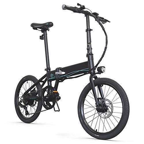 Autoshoppingcenter Bicicleta Eléctrica Plegable Ciclomotor 20 Pulgadas 250W 30km/h Bicicleta de Ciudad/Montaña...