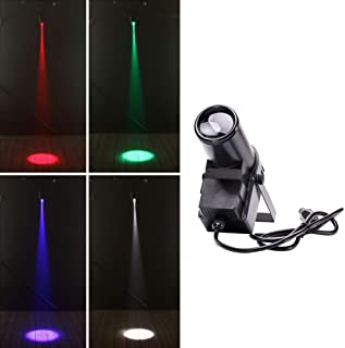 U`King Pin Spot Beam Light RGBW LED Strobe Lighting Pinspot Lights by DMX and Sound Activated Stage Spotlight for DJ Disco Mirror ball