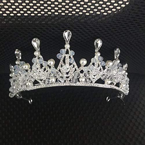 Nieuwe bruidskroon zilver handgemaakte Drop Crown Princess bruid hoofddeksel bruidsjurk accessoires