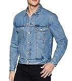 Calvin Klein Men's Denim Trucket Jacket, lyons blue WITH patch, Medium