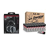 WorkTunes Connect + AM/FM Hearing Protector with Bluetooth Technology & Energizer AA Batteries (48 Count), Double A Max Alkaline Battery