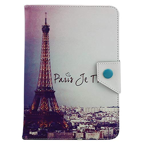 GHC PAD Cases & Covers For iPAD Air 1 Air 2, Universal 9.7 inch To 10.1 inch Tablet PC Printed Leather Flip Stand Cover For Samsung Huawei (Color : Eiffel Tower Pairs)