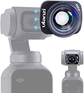 Ulanzi DJI OSMO POCKET専用 広角レンズ 4K 強い磁気 ケラレない マグネット式