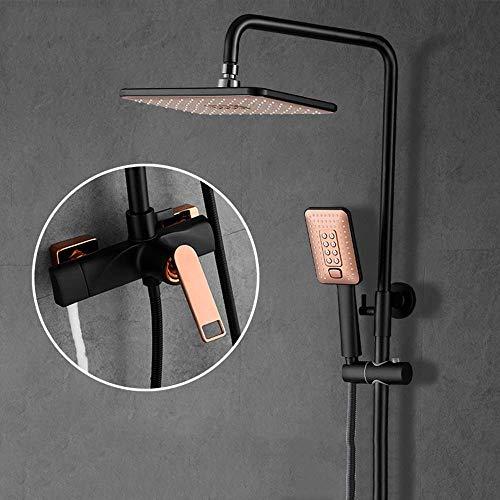 Onior norte de Europa Nuevo cuarto de baño de cobre grifo de la ducha ducha grupo de presión de boquilla montado en la pared de la ducha Hermosa práctica Bañarse