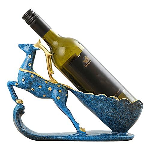 BOENTA Botellero Vino Estanteria para Vinos Sostenedor del Vino Estantes de Vino de pie Libre Botella de Vino Rack Pequeño Vino Wineracks De Vino Blue