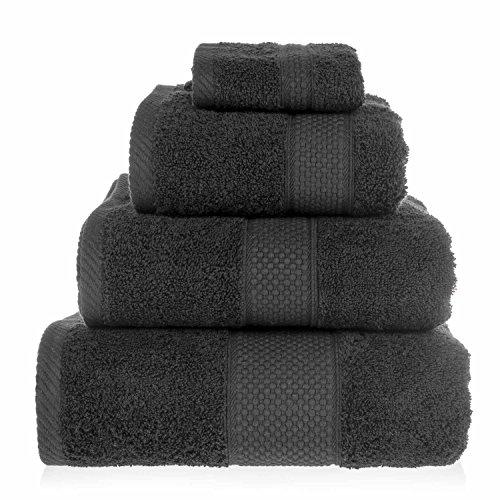 HOMESCAPES Toalla baño Grande, 100% algodón Turco Absorbente y Suave, Color Negro 100 x 150 cm ✅