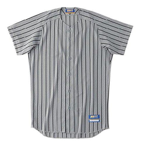 ゼット Zett ZETT ゼット 野球用 ユニフォーム ストライプ メッシュシャツ BU521 シルバー×ブラック 1319 XXO