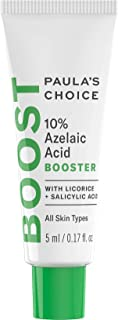 Paula's Choice BOOST 10% Azelaic Acid Booster Cream Gel, Licorice Extract & Salicylic Acid, Oil-Free Skin Brightening Serum, 0.17 Ounce