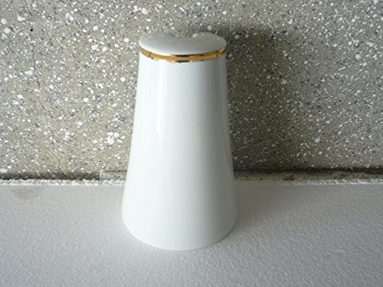 Unbekannt WC-Garnitur aus Porzellan weiß mit Goldstaffe oben verotelt hergestellt in Deutschland B01J1UPCAC