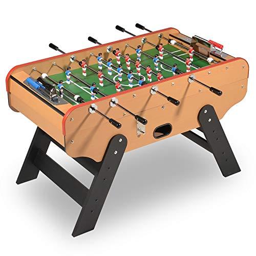Baby foot -Futbolin madera Bar Deluxe con monedero (desactivable) y balas de futbolín 140 x 75 cm