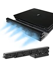 ElecGear automatyczny wentylator chłodzący do PS4 Pro, zewnętrzny wentylator chłodzący z Turbo USB, dwa tryby z automatycznym czujnikiem temperatury rozpraszanie ciepła do PlayStation 4 Pro konsola do gier
