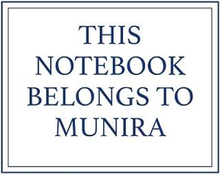 This Notebook Belongs to Munira