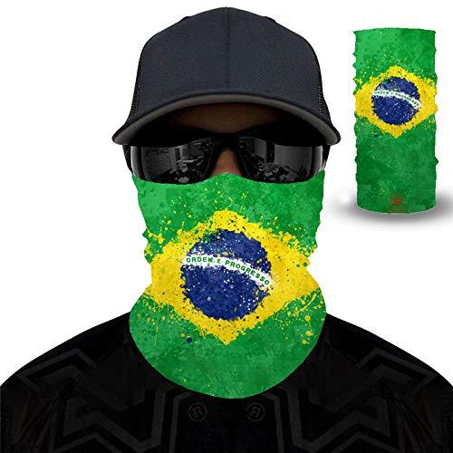 PAWANG Canadá Japón Francia Italia España Corea del Sur Brasil Bandera Máscara de protección Solar Transpirable 3D Decoración de la Cara de Halloween 50x25cm