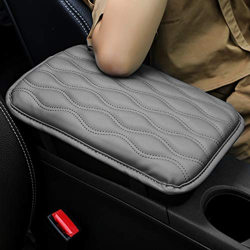 Seven Sparta Universal Center Console Cover for Most Vehicle, SUV, Truck, Car, Waterproof Armrest Cover Center Console Pad, Car Armrest Seat Box Cover Protector(Gray)