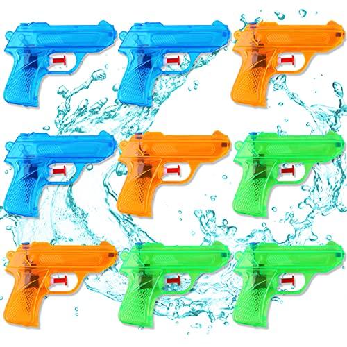 colmanda Pistole ad Acqua per Bambini, 9 Pezzi Pistole ad Acqua, Piccola Pistola ad Acqua Pistole ad Acqua Schiuma Acqua Pistola Squirt, Pistole ad Acqua Giocattolo per All'aperto Divertimento