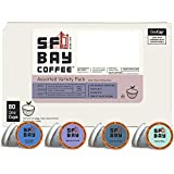 SF Bay Coffee Assorted Variety Pack 80 Ct Compostable Coffee Pods, K Cup Compatible including Keurig 2.0