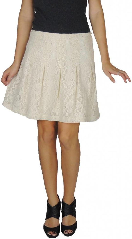 Kensie Women's Lace Knee Length Skirt Birch