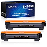 Wewant Toner TN 1050 Reemplazo para Brother TN1050 Cartucho de Tóner Compatible con Brother HL-1110 1111 1112 1200 1210W 1202 1212 DCP-1510 1511 1512 1610W MFC-1810 1811 1815 1910, 2 Negro