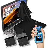 """CLEAN SCREEN WIZARD Paños de Microfibra Limpiador y Protector de Pantalla y Teclados, Incluye Pegantina Limpiador de Pantallas Portátiles, Ideal para Macbook Air 13""""- 4 Piezas"""