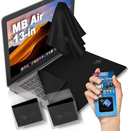 CLEAN SCREEN WIZARD Microfiber Keyboard Covers Protector Cloths/Screen Imprint Screen Protector Cleaner Kit, Bundle Screen Cleaning Cloths and Sticker for MacBook Air 13 Retina