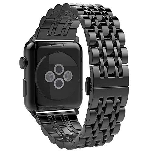 Aottom Apple Watch 38 mm, horlogebandje Apple Watch Series 3 dames armbanden iWatch 38 mm roestvrij staal band smartwatch band met metalen sluiting voor Apple Watch 38 mm