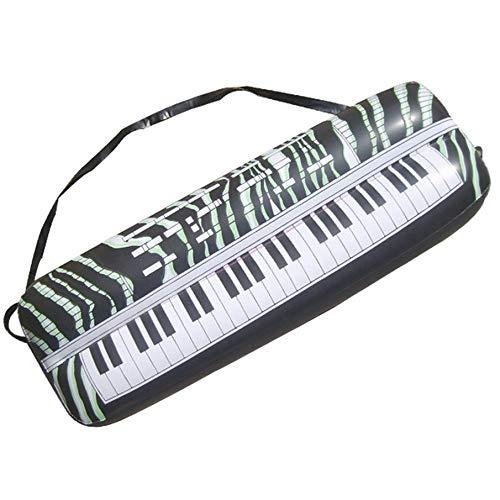 KNOSSOS Microfono Gonfiabile simulato dell'organo del Giocattolo dello Strumento Musicale della Chitarra - Nero