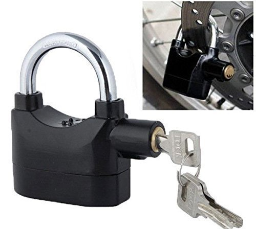 Selzoma for Motorcycle Bike Bicycle Perfect Security with 110db Steel Anti Theft Sensor Alarm Lock, (Black)