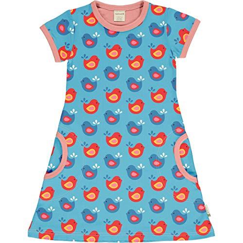 Maxomorra Girl Kleid Kurz Bright Birds 122/128