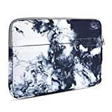 13 inch Laptop Sleeve with Pocket, Marble Pattern Canvas Laptop Carrying Case Compatible 13.3 inch MacBook Air Pro Retina Surface Chromebook 12.9-inch iPad Pro Tablet Case, Gray Marble