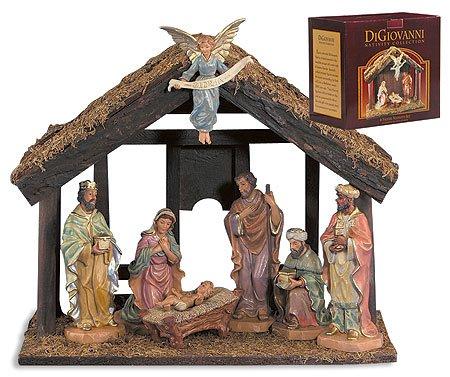 Avalon Gallery DiGiovanni Christmas Nativity 7-Piece Stable Scene Set
