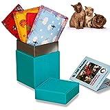 Joli Moulin Cojín de hierba para gatos, 4 unidades, en una caja exclusiva, regalo para los amantes de los gatos, con certificado Oeko-Tex 100, color turquesa
