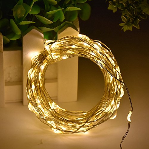 XFT-CK 10m/33FT 100 LEDs String Light With Battery Powered - Fairy Lights Starry Lights for Christmas Halloween Party Decoration(Warm White)