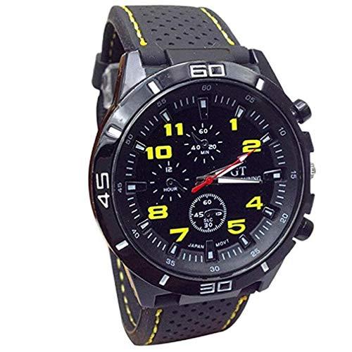 Kaitoly Fashion Watch Mode Herren Militär Quarz Uhr Stundensimulation Sportuhr Uhr, Herren, gelb