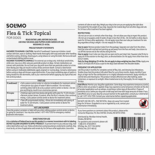Amazon Brand - Solimo Flea and Tick Topical Treatment for Dogs