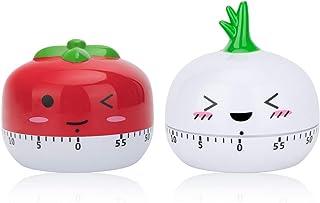 peinat Kitchen Timer, 60-Minutes Mechanical Timer Cute Vegetables Wind Up Timer No Batteries Egg Timer Size Manual Timer C...
