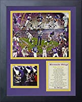 "Minnesota Vikings NFL Greats Collectible | Framed Photo Collage Wall Art Decor - 12""x15"" 