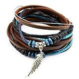 axy TWIC13 Tibet WICKELARMBAND Serie 13! ECHT Leder Armband Leather Bracelet!Surferarmband Schmuck (Modell 2)