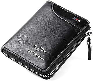 Wallet Purse for Men, Faux Leather, Waterproof, Wear Resistant -Black