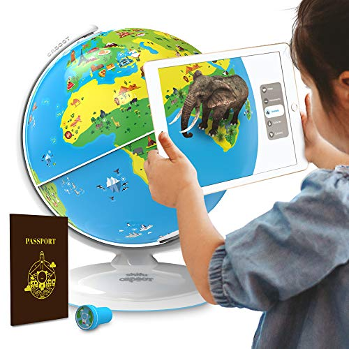 Shifu Orboot (App Based): Augmented Reality Interactive Globe For Kids, Stem Toy For Boys & Girls Ages 4+ Educational Toy Gift (No Borders, No Names On Globe)