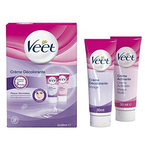 Veet Crème décolorante spécial visage - Les 2 tubes de 30ml